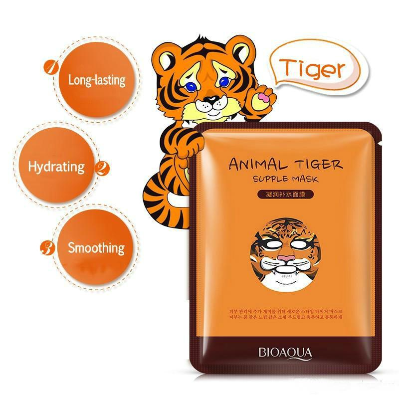 wholesale BIOAQUA Facial supple Masks Animal Face Mask Tiger Panda Sheep Dog Shape Moisturizing Oil Control Hydrating Nourishing