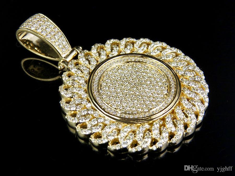 Wholesale mens 14k yellow gold real diamond cuban iced medallion men 039 s 14k yellow gold real diamond cubang mozeypictures Gallery