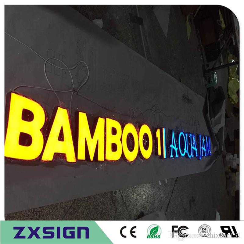 Factory Outlet Custom Outdoor acrylic lightbox letter signs, fronlit led  channel letter advertising business shop signs company name signage