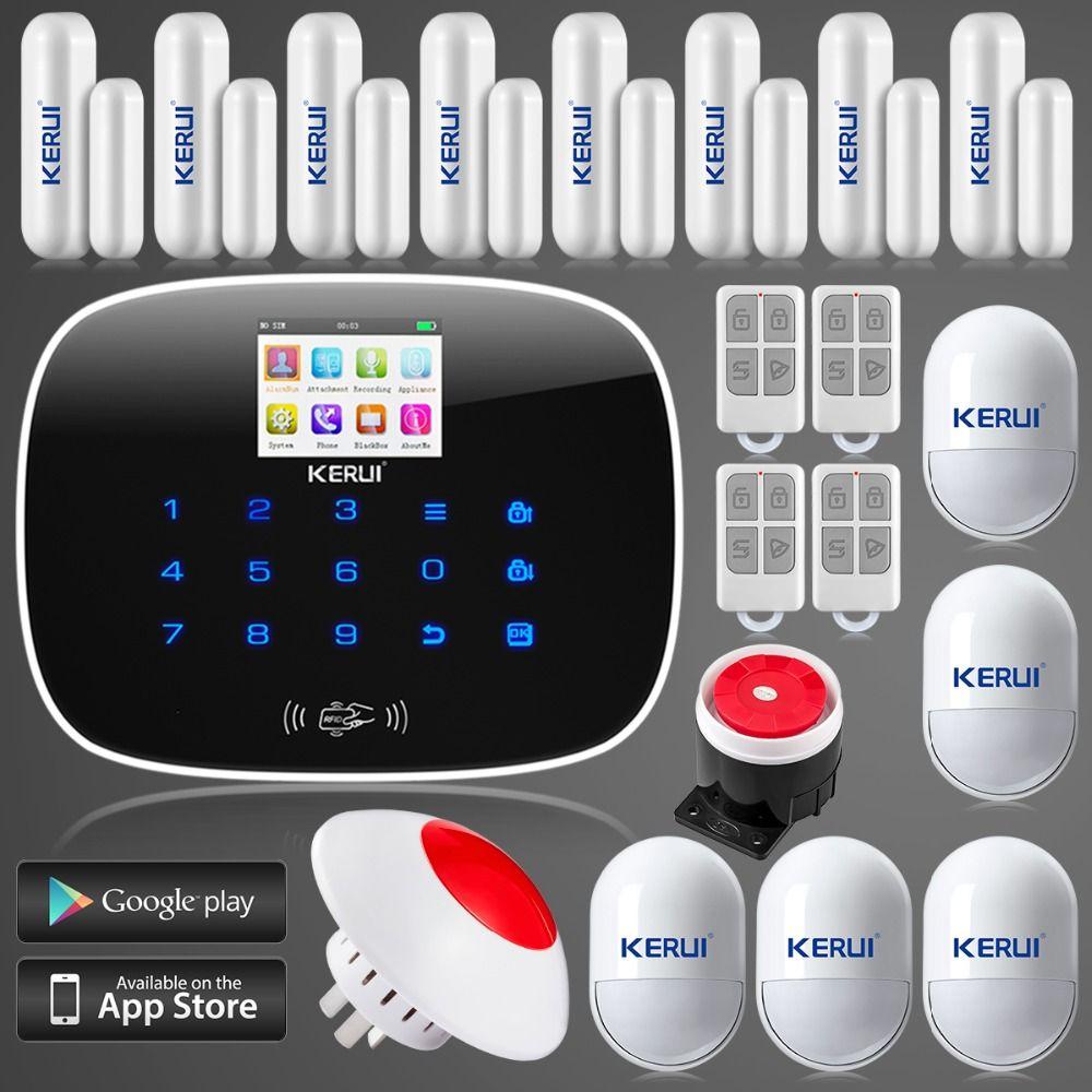 Ls111 English/Russian Language Kr G19 Gsm Home Alarm System 8 ...