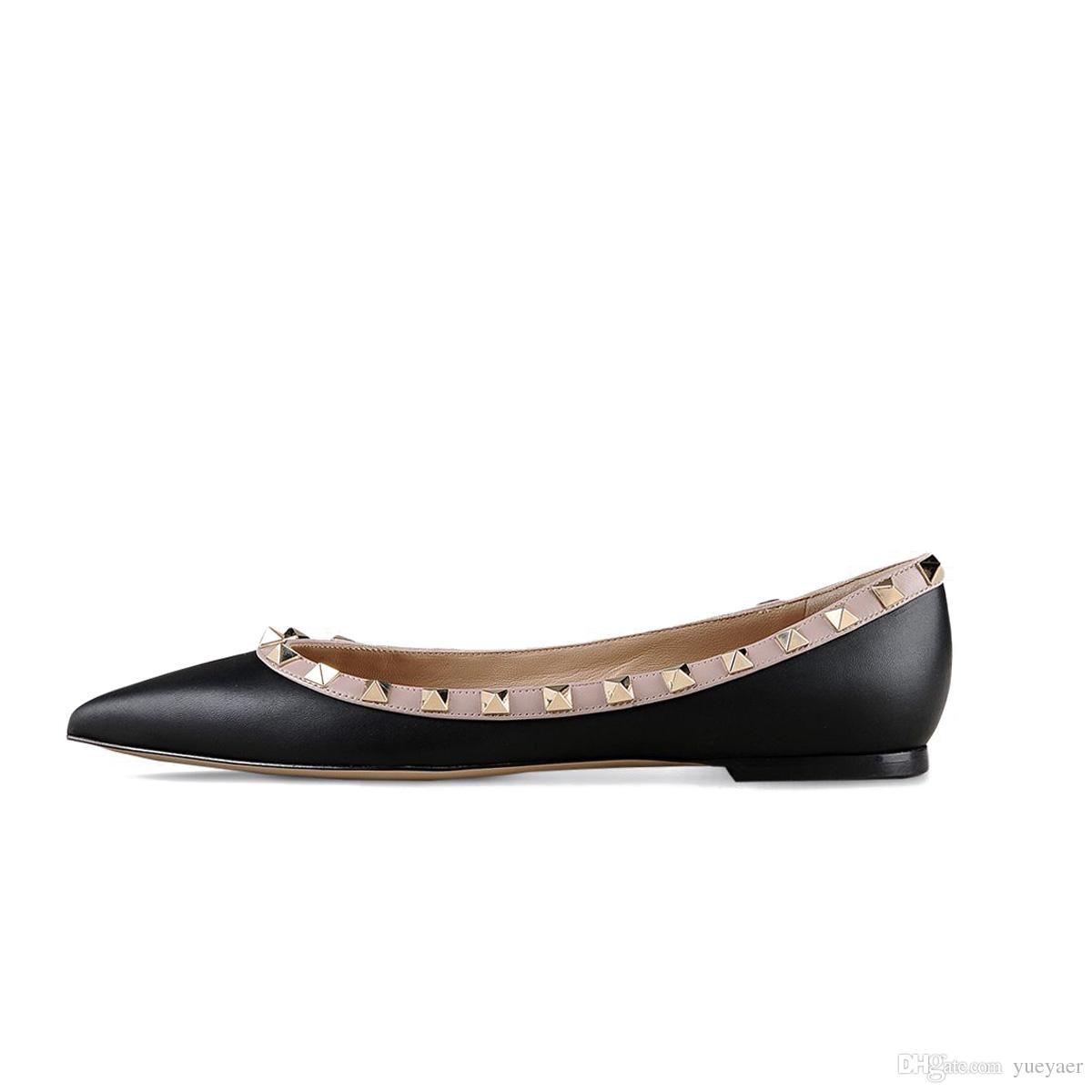 Zandina Women Handcrafted Fashion Ballerina Flat Shoes Ballets Pointy Studded Slip On Flat Party Pumps Yellow