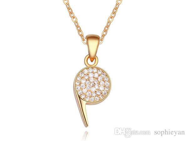 2017 New Arrival Special Women Whistle Crystal Pendant Necklace Platimun Plated Make With Swarovski Elements FREE SHIPPING 3 Colors
