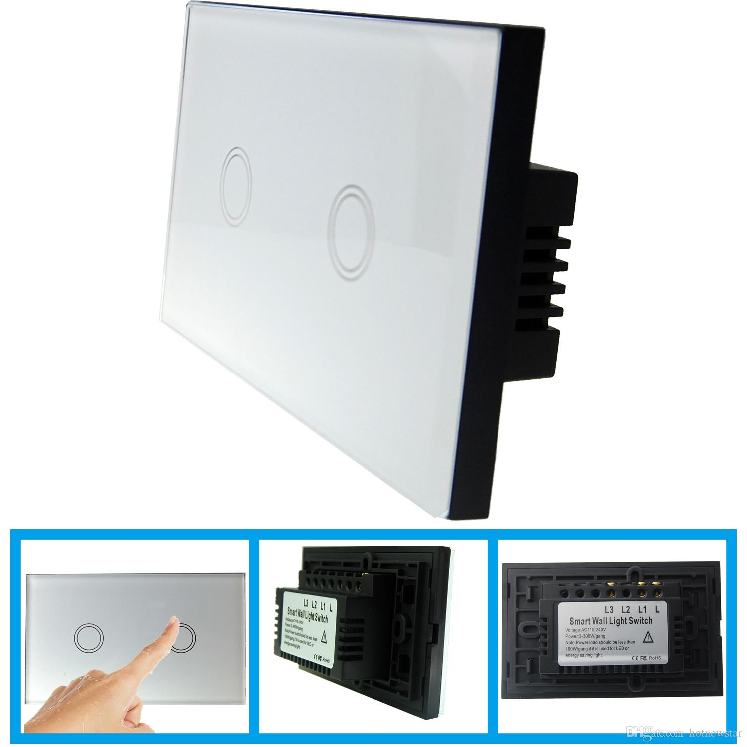 2018 Crystal Tempered Glass Touch Panel 2 Gang Light Switchhigh Switch Wiring L1 L2 L3 Quality Us Au Screen Switchesfrom Hotnewstar 2865