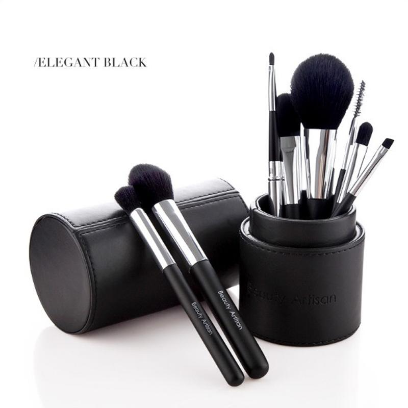 Cosmetics brush Set Travel Makeup Brushes High Quality Synthetic Hair wood Handle With Cylinder