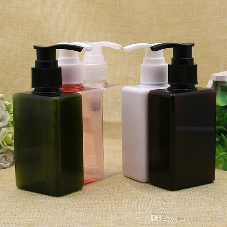 150ml Empty Lotion Pump Cosmetics Container Shampoo Square Bottles With Dispenser Contenedores de envasado de jabón líquido para el cuidado personal