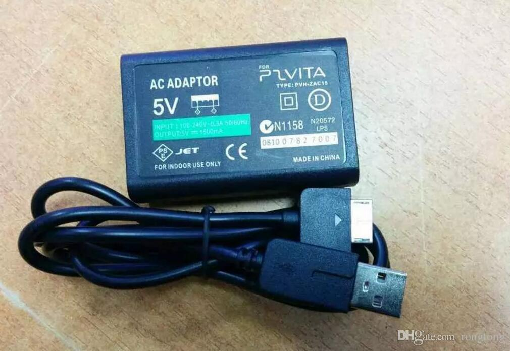 EU US Plug Home Wall Charger Power Supply AC Adapter USB Data Sync Charging Cable Cord For Sony Psvita PS Vita PSV 1000