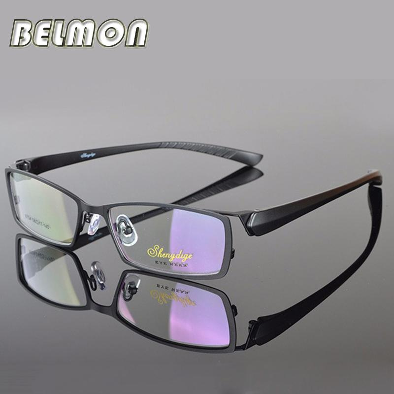 Wholesale- Spectacle Frame Eyeglasses Men Computer Myopia Optical Eye Glasses Frame For Male Transparent Clear Lens Armacao Oculos de RS026