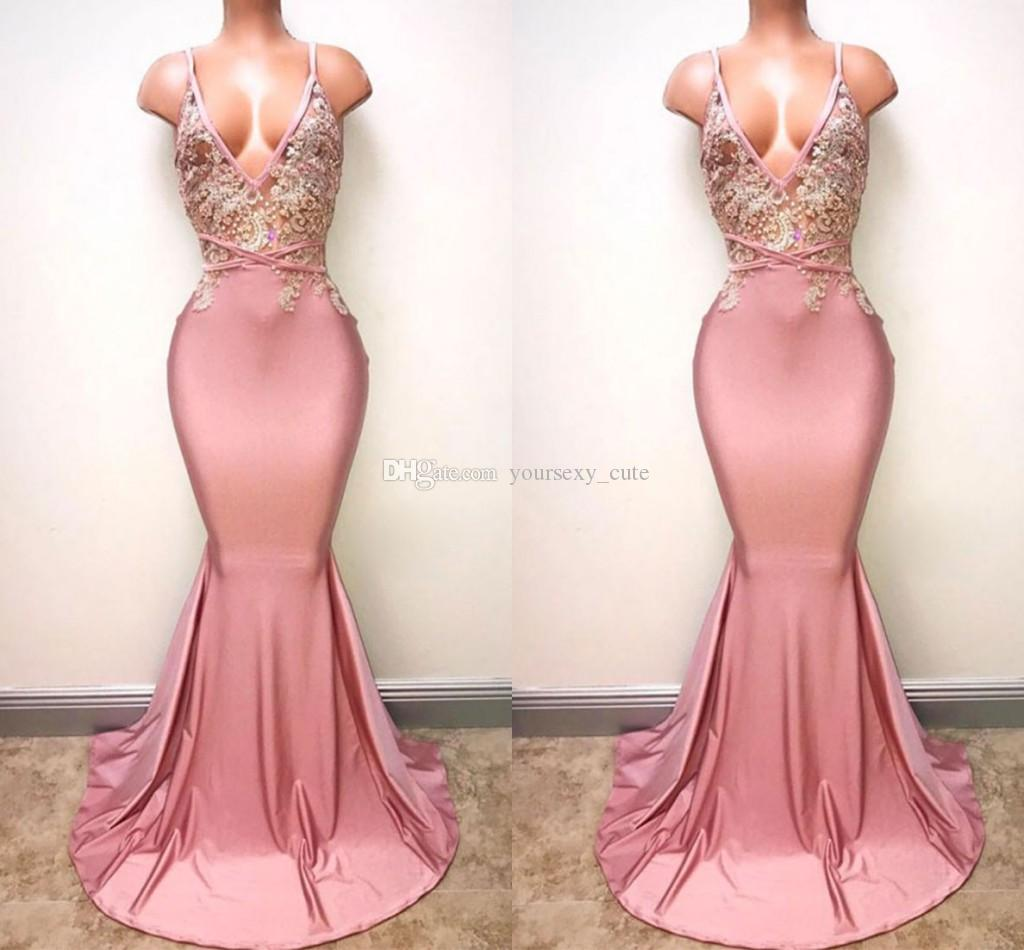 Sexy pink gown