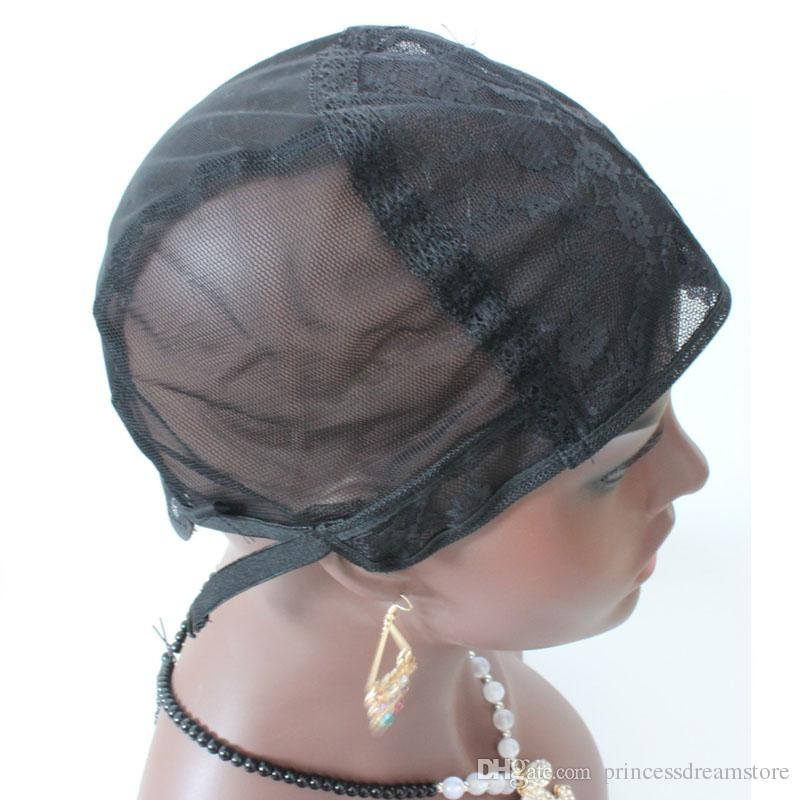 Nice Glueless Lace Wig Caps For Making Wigs Adjustable Invisible Hair Net For Wigs 1pc Factory Price Wig Making Accessories Hair Extensions & Wigs
