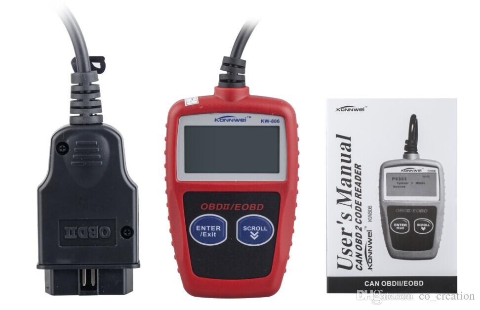 OBD KW806 car diagnostic scanner program high brightness module