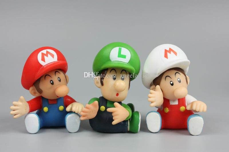 Mario Bros Luigi burro kong youshi mario melocotón Figuras de acción de PVC muñeca estilo mixto envío gratis E1922