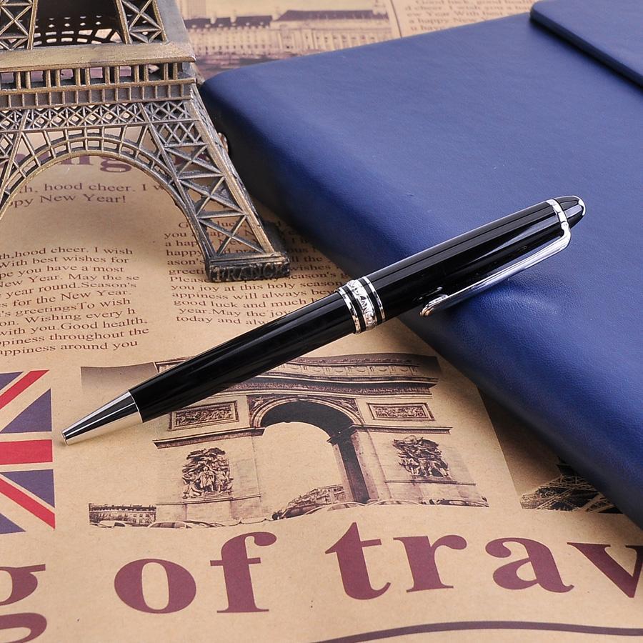 1 Pz Mont 163 Penna a sfera nera liscia di lusso con inchiostro nero Mb penne regalo aziendale forniture scolastiche ufficio cancelleria regalo di Natale di cancelleria