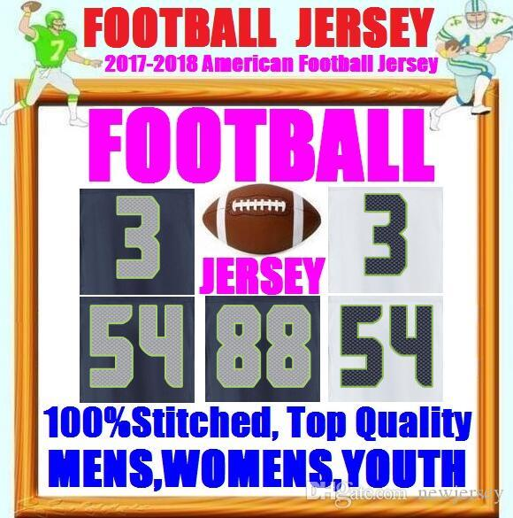 ddb173617 2018 Cheap Wholesale American Football Jerseys Russell Wilson Fan 12 Bobby  Wagner Jimmy Graham Eddie Lacy Throwback Elite Game Limited Jersey 4xl From  ...