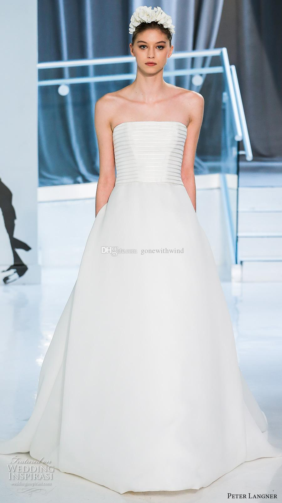 Discount simple romantic elegant a line wedding dresses for Simple romantic wedding dresses