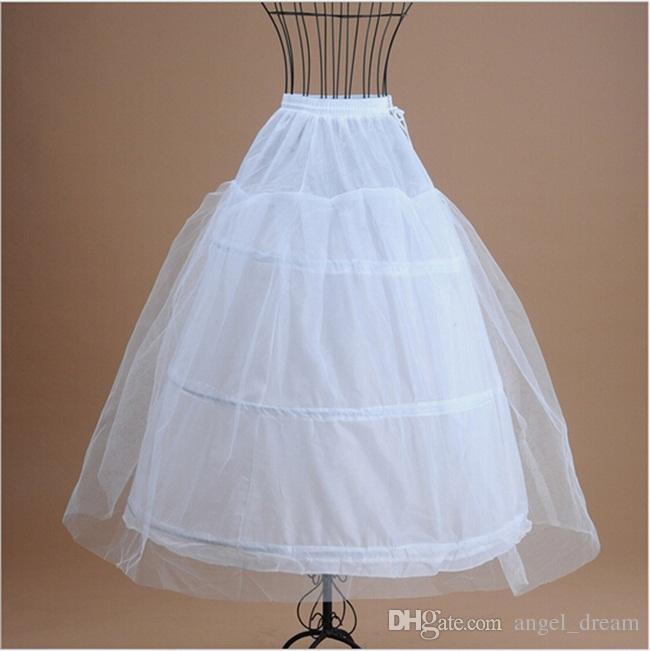 Nova marca vestido de baia anáguas para vestido de noiva formal saia branca deslizamento Crinolina acessórios de noiva 3 aros osso Underskirt