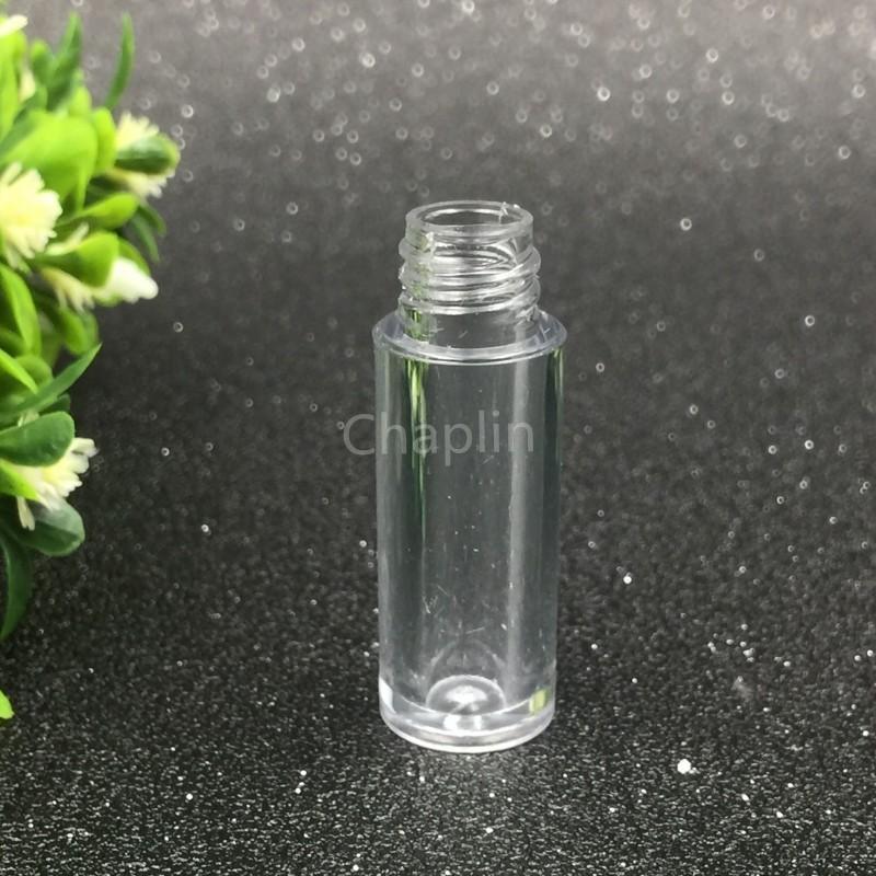 0.8 мл мини пустой прозрачный блеск для губ трубка 50x13mm черный серебряный золотой колпачок пластиковые губы бальзам бутылка помады образец подарочный контейнер