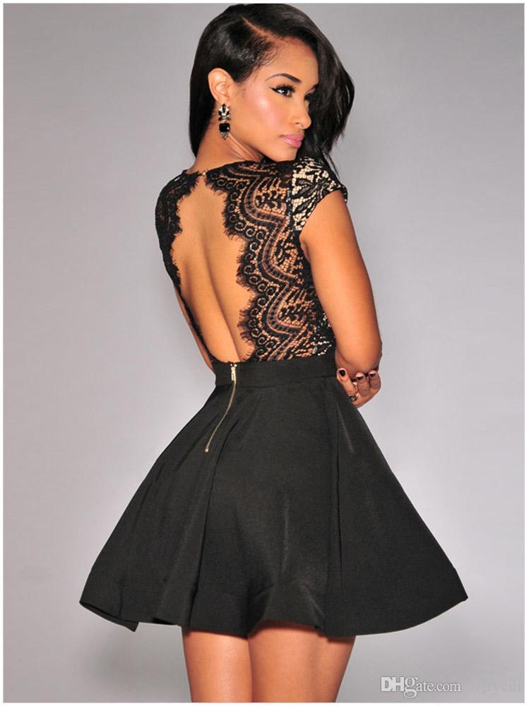 New Delicate Eyelash V Neck Mini Dress Short Sleeves Skinny Party ...