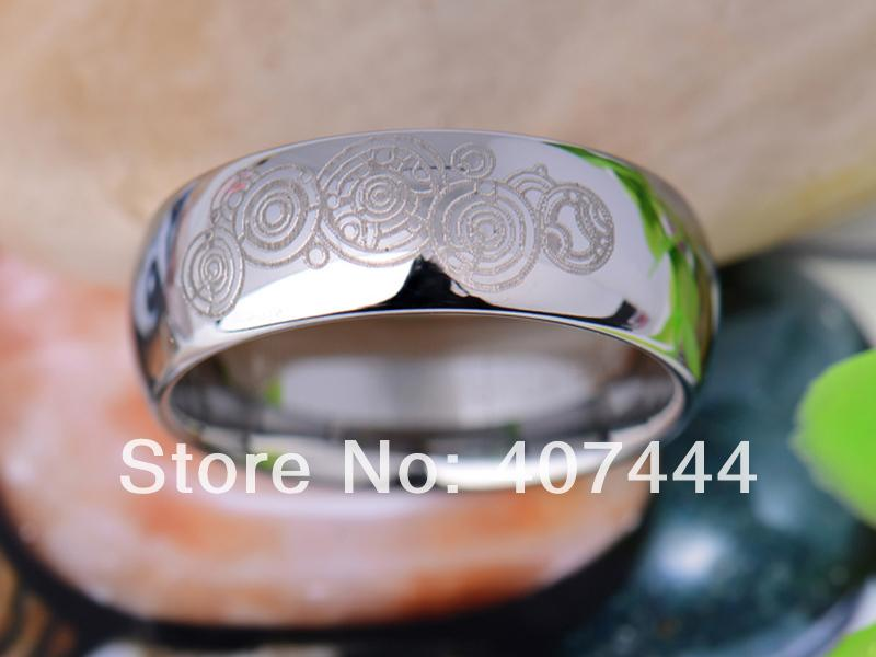 Ygk Jewelry Hot Sales 8mm Silver Dome Doctor Who The Lord Mens