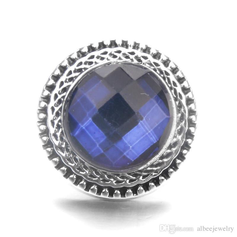Mélanger les couleurs résine pierre ronde noosa morceaux de métal gingembre 18mm boutons-pression pour les résultats de bijoux collier