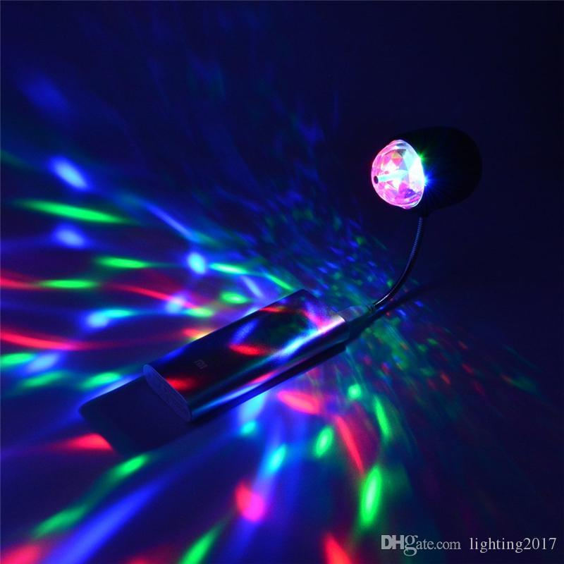 Night Lights USB Magic Ball Stage Effect Lighting 3W RGB Led Stage Lamps 100-240V Crystal Change Colour Lamp Party Disco Club DJ Light