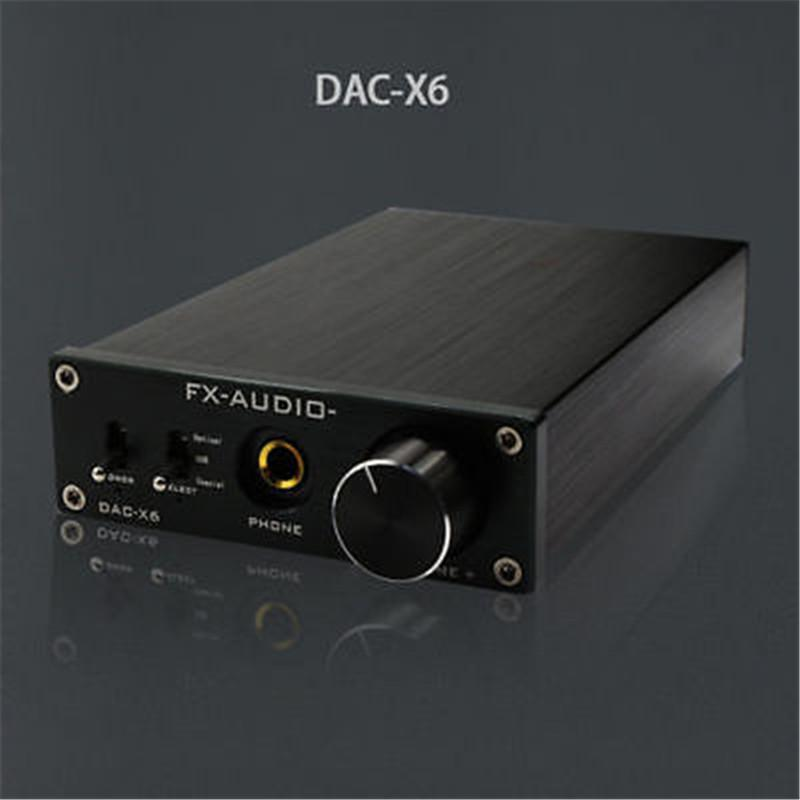 Freeshipping FX-Audio Feixiang DAC-X6 HiFi amp Optical/Coaxial/USB DAC Mini Home Digital Audio Decoder Amplifier 24BIT/192 12V Power Supply