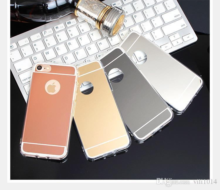 952ffb58927 Luxury Acrylic Mirror TPU Bumper Case For IPhone 5 5S SE 6 6S 7 Plus GALAXY  S6 S7 Edge Plus Dustproof Protective Cover Heavy Duty Cell Phone Cases  Spigen ...