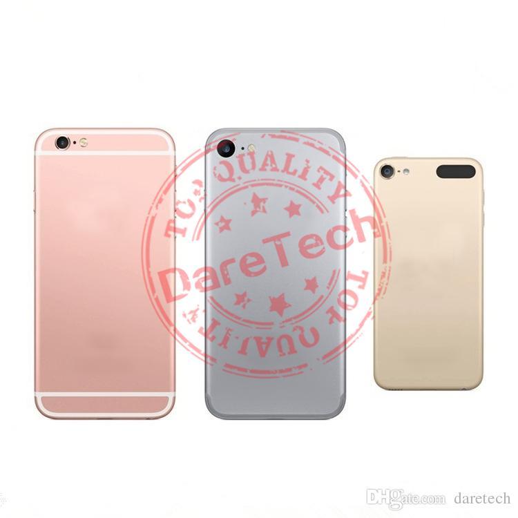 Tampa de substituição para iphone 7 iphone 7 além de habitação jet black gold prata rosa de ouro preto 5 cores com logotipo DHL grátis