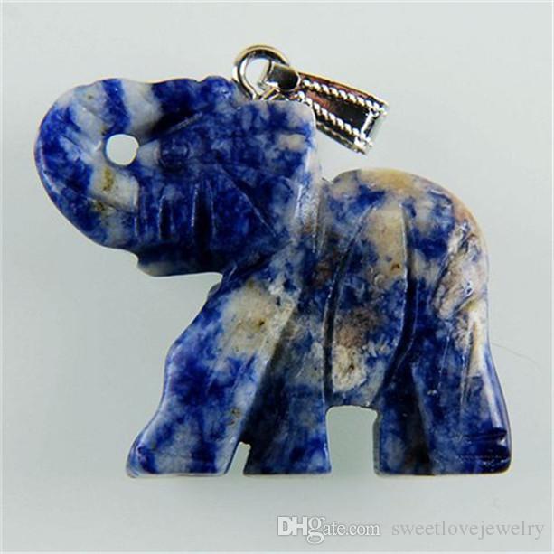 sq14 содалит резной слон кулон бусина отправить случайно