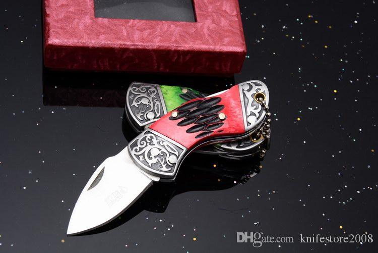 Мини режущий инструмент 440 лезвие стали и кости ручки точки падения складной карман OEM EDC тактический нож спасательные ножи новый в оригинальной коробке