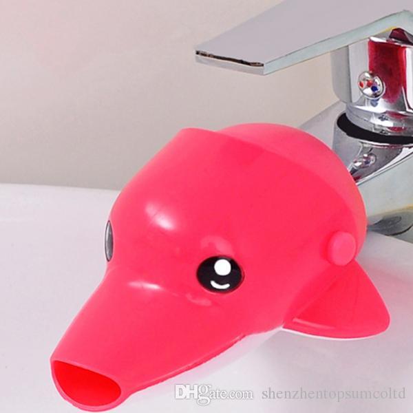 새로운 도착 귀여운 아이를위한 귀여운 만화 동물 수도꼭지 Extender 화장실 손 싱크 3 색상에 손을