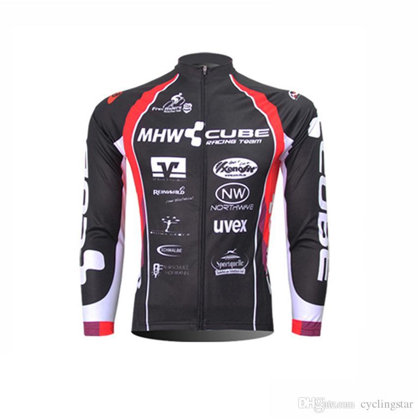 0b822ff62 CUBE Men Cycling Jerseys Pro Team Long Sleeve Shirt MTB Maillot Ropa  Ciclismo Bike Cycle Breathable Bicycle Clothing Sportswear C0122 Mens Shirts  Uk Cycling ...
