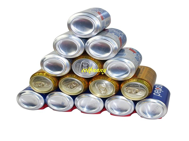 wholesale Silicone Refrigerator Wine Bottles Shelf Coke Rack Beer Cans Holder Mat Fridge Organizer