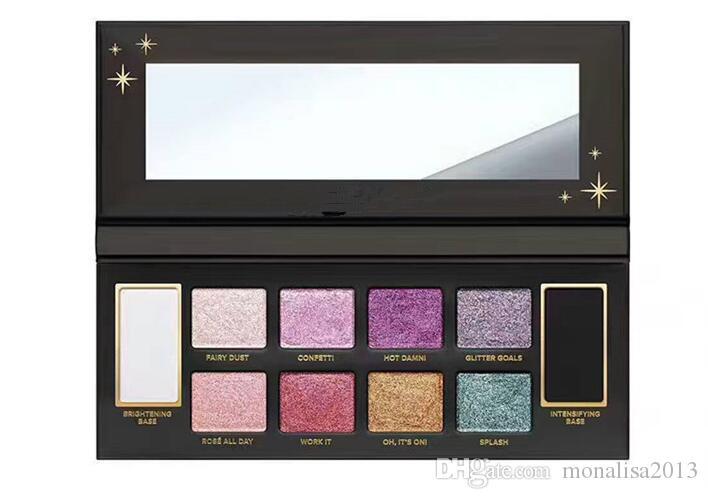 Gesicht Glitter Bombe PRISMATIC Lidschatten-Palette Make-up Paletten 10 Farbe DHL-Geschenk