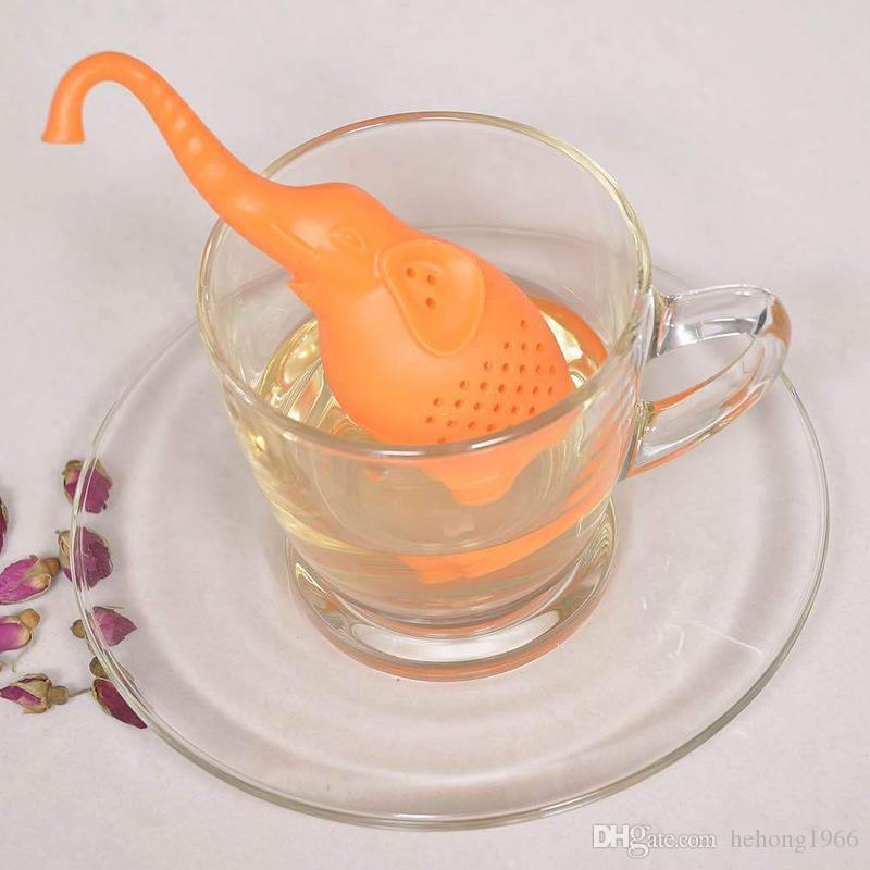Creative Elephant Tea Infuser Bags Animal Silicone Teas Filter Kitchen Bar Tools Safety Durable Easy To Clean 6 9jr A