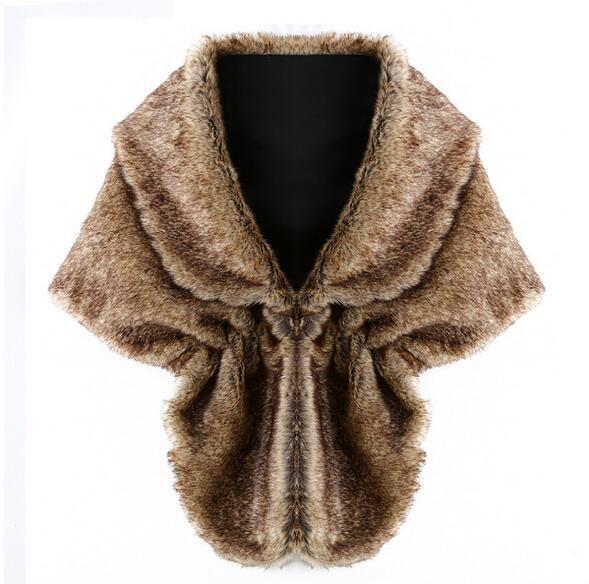 Molti Style 2017 Nuove Avvolge da sposaJackets la festa nuziale Sera Causale Abbigliamento donna Inverno Faux Fur Bridal Coat Scialle Bolero