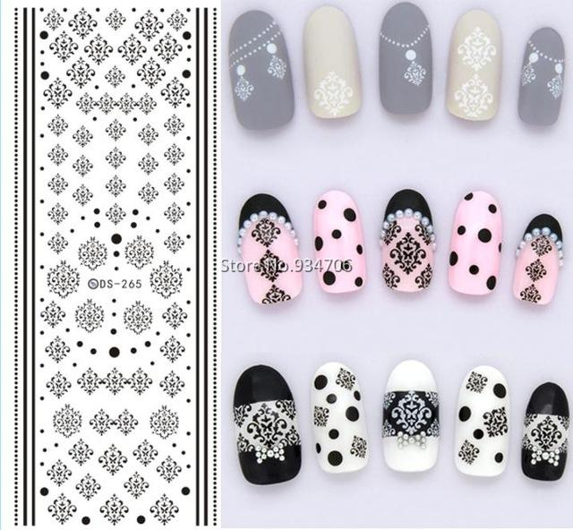 Wholesale Ds265 Design Water Transfer Nails Art Sticker Winter Style