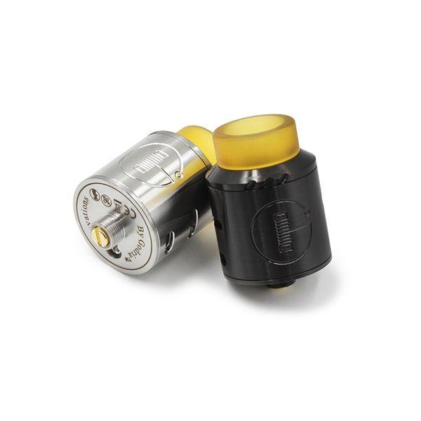 BOLT RDA Atomizzatore clone 24mm con PEI Wide Bore Drip Tip Peek Isolatori Argento Nero i fit 510 E Sigarette Vape Mods DHL Free