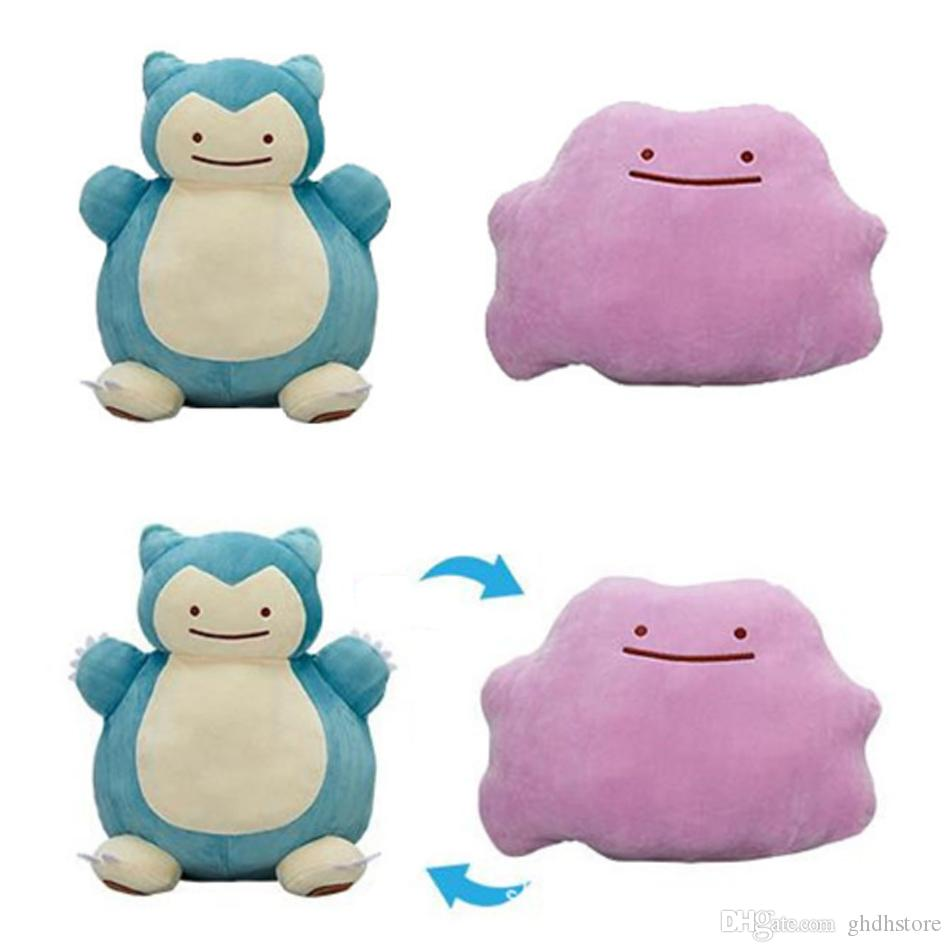 Hot New 12 30CM Ditto Plush Doll Snorlax Inside-Out Cushion Stuffed ...
