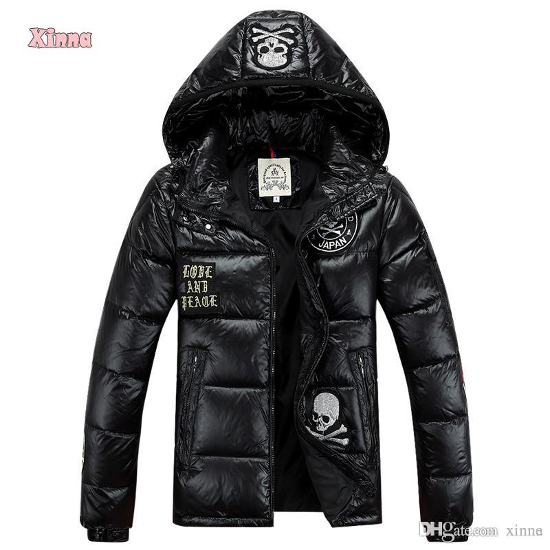 2018 Hot Sale Fashion Men Winter Patch Down Jacket Casual Hip Hop ...
