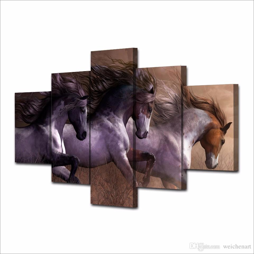 Framed HD Printed Animal horse Painting Canvas Print room decor print poster picture canvas /NY-5864