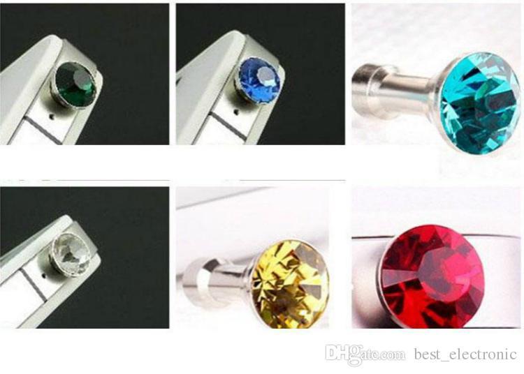 Универсальный 3,5 мм кристалл алмаза анти пыли пылезащитный разъем для наушников разъем для гарнитуры пробка Cap новый Rhinestone разъем для смартфона