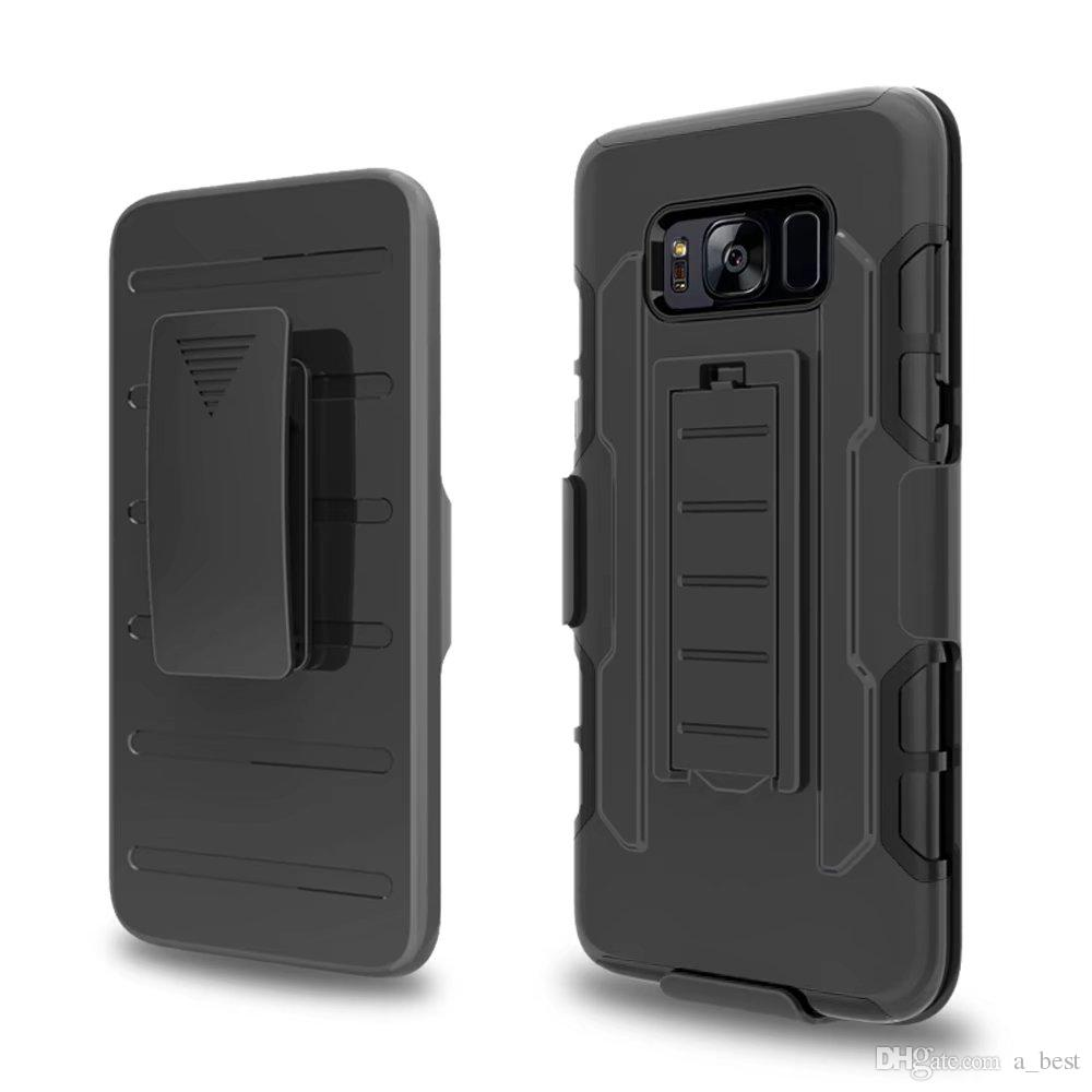 timeless design 66a1c d7501 For Samsung Galaxy S8/S8 Plus Future Armor Case 3 in 1 Rugged Anti-scratch  Belt Clip Holster Kickstand Hybrid Hard Cover Phone Case