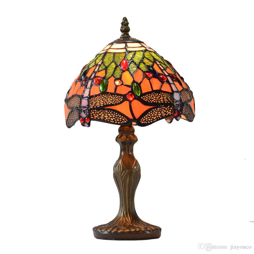 2018 table lamp dragonfly tiffany style lamp art glass modern 2018 table lamp dragonfly tiffany style lamp art glass modern bedside table light colorful lampshade tiffany factory from jiayouco 186 dhgate mozeypictures Gallery
