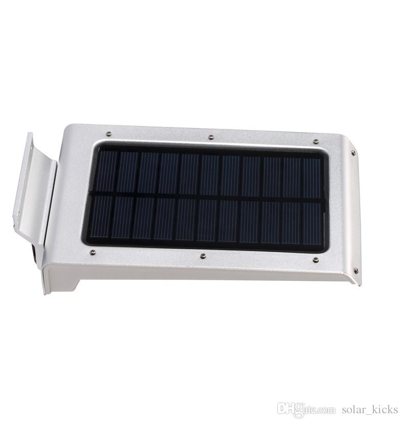 Applique Murale Quadri Moderni 3w 46 Led Solar Light Outdoor Lamp Impermeabile a risparmio energetico Parete Sensore di movimento la decorazione del giardino