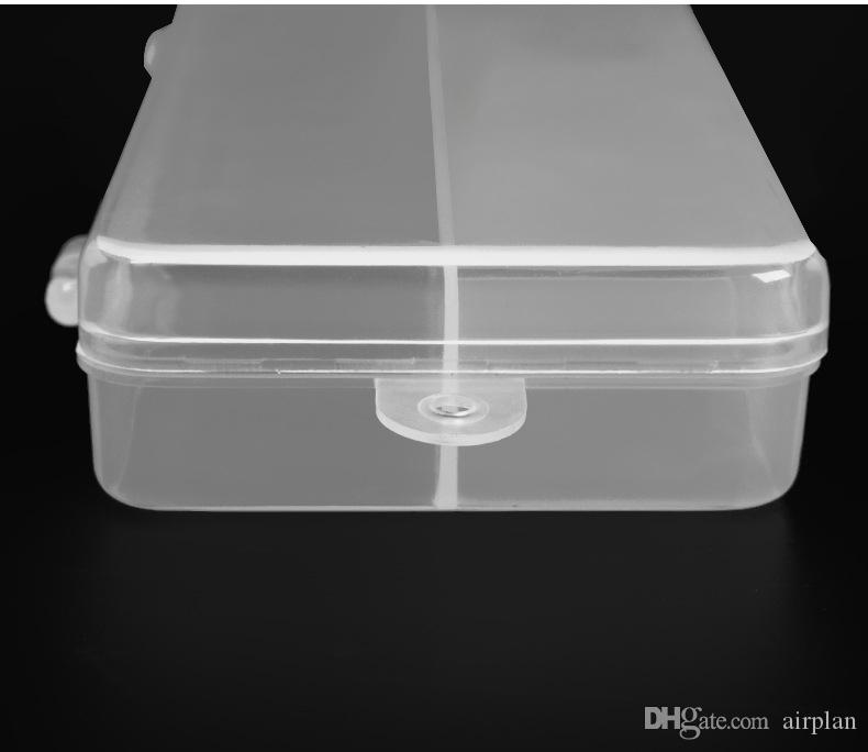 Wholesale 18*7.5cm Transparent lightweight white 5 grid storage hook - type fishing gear tool pvc box 1606746