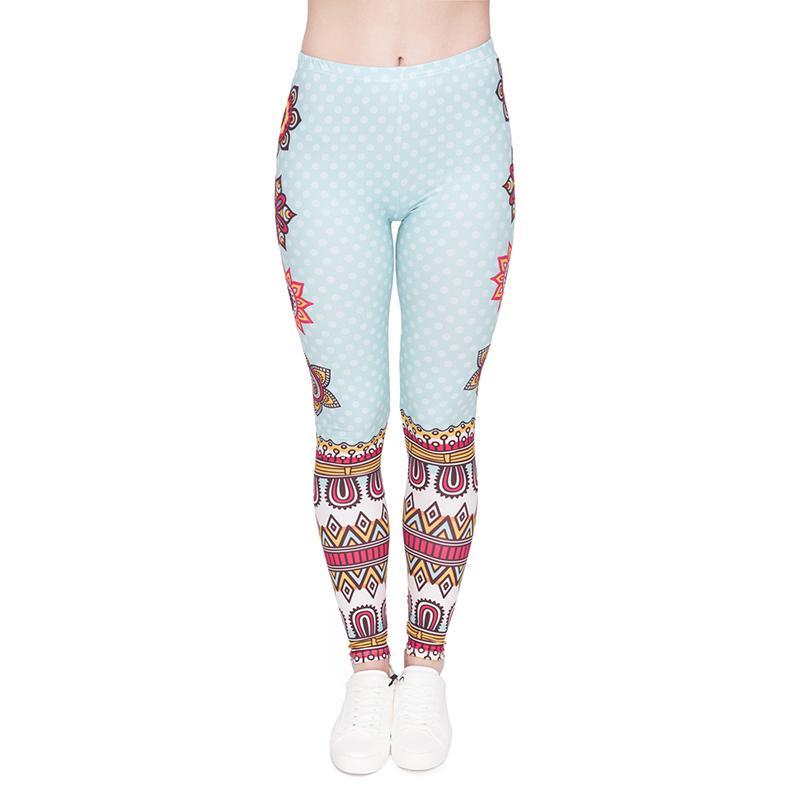 0c1e68617ac58 2019 Girls Leggings Mandala Dot 3D Graphic Print Women Skinny Stretch  Fitness Pencil Fit Soft Yoga Pants Lady Sports Workout Trousers J46000 From  Joybeauty, ...