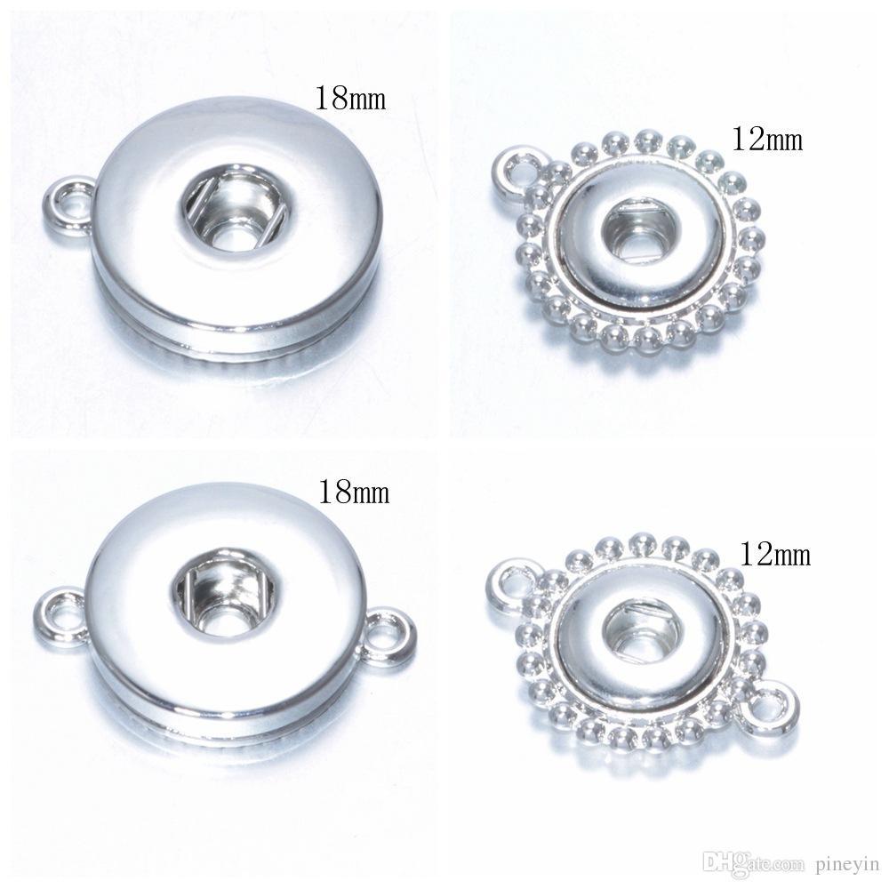Mix 12mm e 18mm Bottoni Choker Bottoni a pressione Bottoni in lega Bottone 12mm 18mm con bottone a pressione con bottone a pressione
