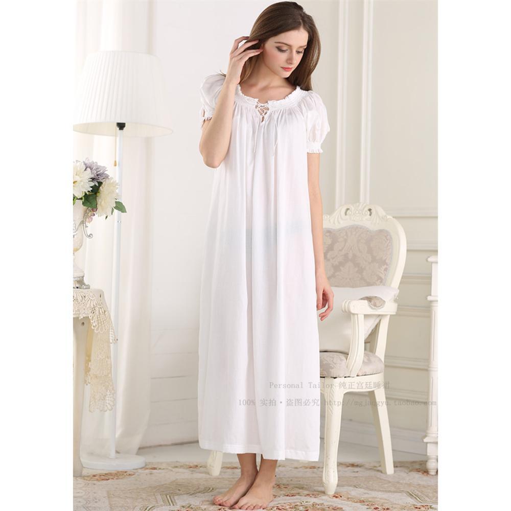 aeb8ea8b4d2 Cotton Short Sleeve Night Dress - Gomes Weine AG