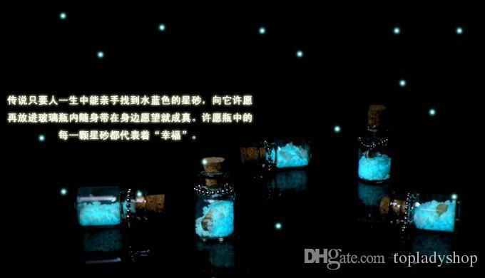 Creative bricolage petits ornements Japon ensemble Okinawa amour nuit lumière sable téléphone chaîne lumineuse souhaitant bouteille pendentif en gros livraison gratuite