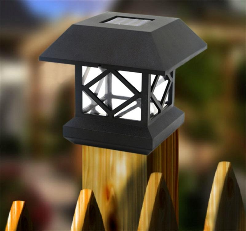 2018 Solar Stakes Lights Solar Lamp Headlamp Wooden Fence